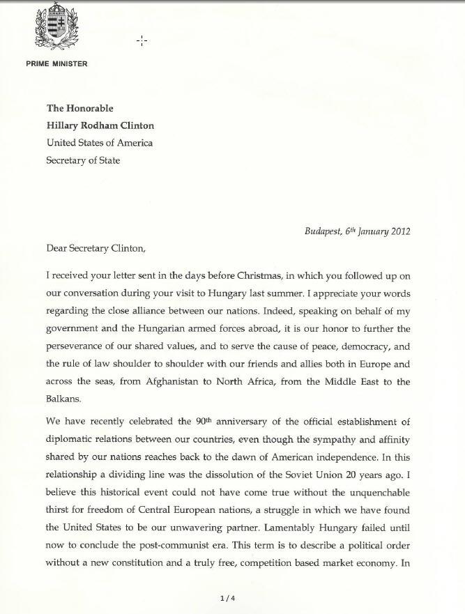 Prime Minister Viktor Orbans Answer To Secretary Of State