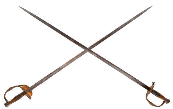 Real Crossed Swords Pastime Crossing Swords